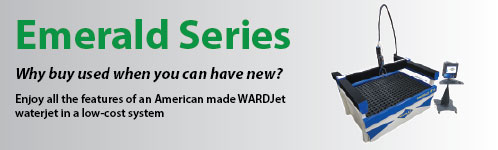 Emerald Series Waterjets. Low cost waterjet, made in America, with an innovative waterjet design.