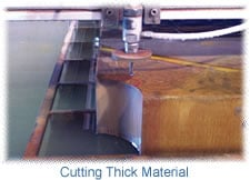 cutting thick materials