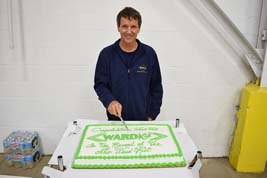 Richard Ward cuts the cake