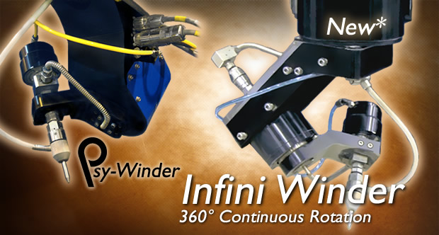 Infini Winder and Psy-Winder 5-axis waterjet cutting heads
