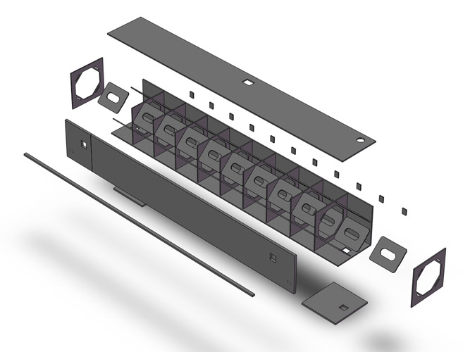 Exploded View of GCM Crossbeam 3D Model