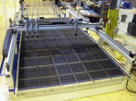 Shuttle Table Loaded Into Water Jet