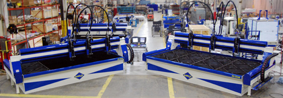Two ZX-2546 Waterjet Cutting Systems