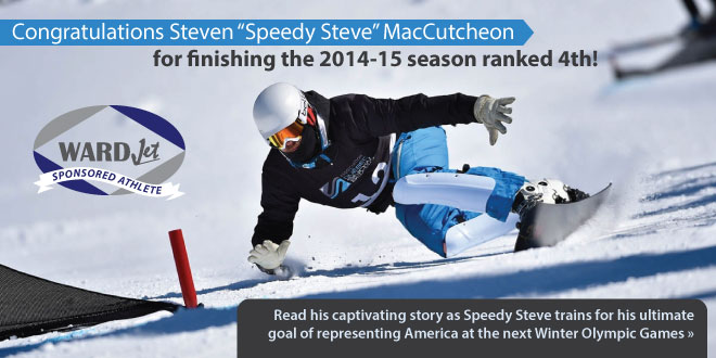 "Pro Snowboarder Steven ""Speedy Steve"" MacCutcheon Sponsored by WARDJet"