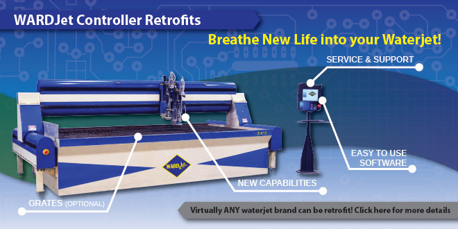 Breathe New Life into your Existing Waterjet with a WARDJet Controller Retrofit.