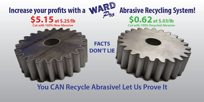Make your waterjet more profitable by recycling your waterjet abrasive with the WARD Pro.