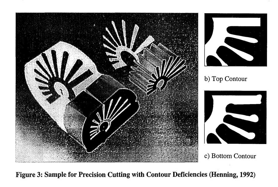 Sample for Precision Cutting with Contour Deficiencies